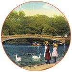 Vintage Central Park à New York aux USA