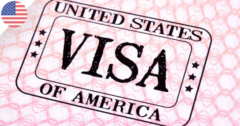 Visuel d'un tampon de visa américain