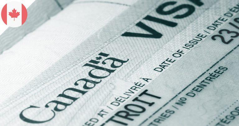 Zoom sur un visa du Canada