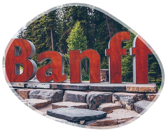 Entrée des visiteurs à Banff au Canada