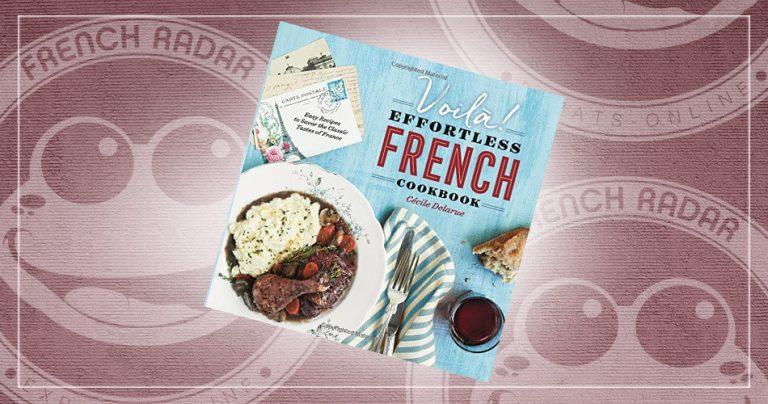La couverture du livre de recettes françaises : Voilà