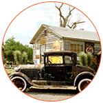 Une voiture ancienne abandonnée sur la route 66