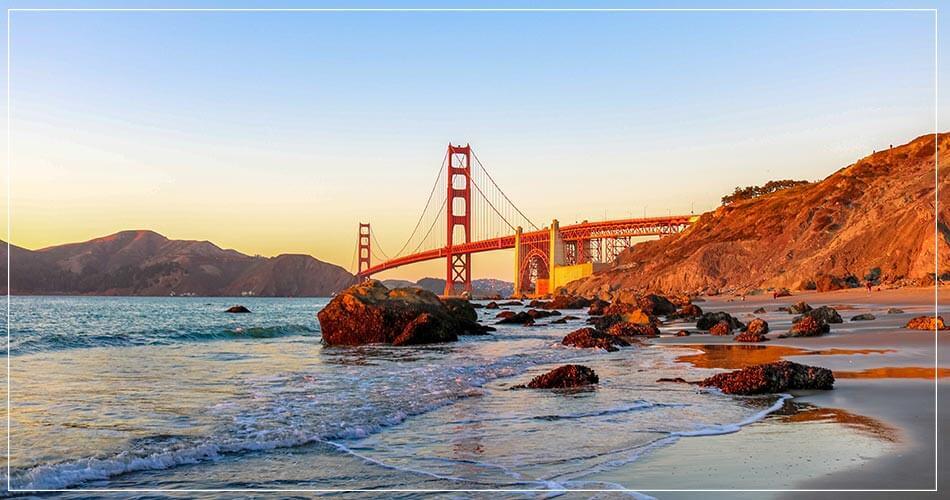 Le Golden Gate à San Francisco, en Californie aux Etats-Unis