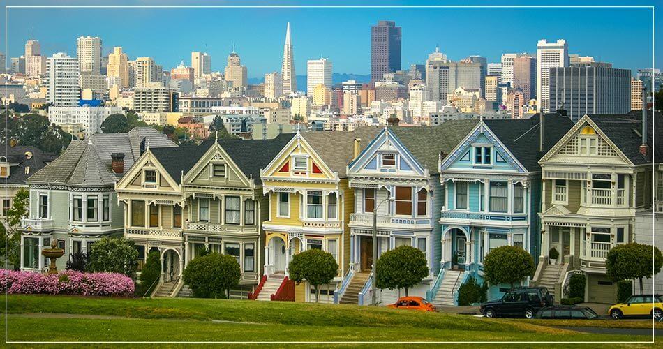 Vue panoramique de la ville de San Francisco aux Etats-Unis