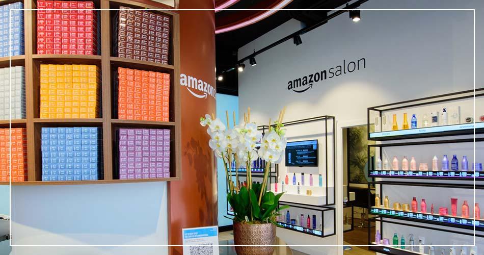 Intérieur d'Amazon Salon à Londres (UK)