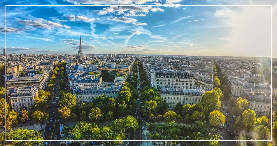 Vue aérienne de Paris (France)