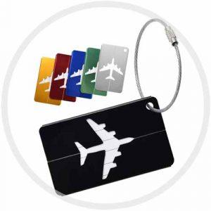 Étiquettes bagage avion