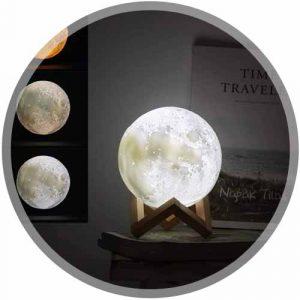 Lampe lune 3D tactile
