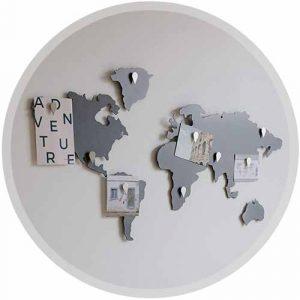 Mappemonde décorative métal